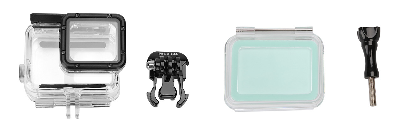 фото комплектации водонепроницаемого чехла для GoPro Hero 7