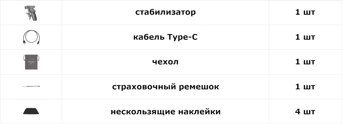 фото комплект поставки DJI OSMO Mobile 3