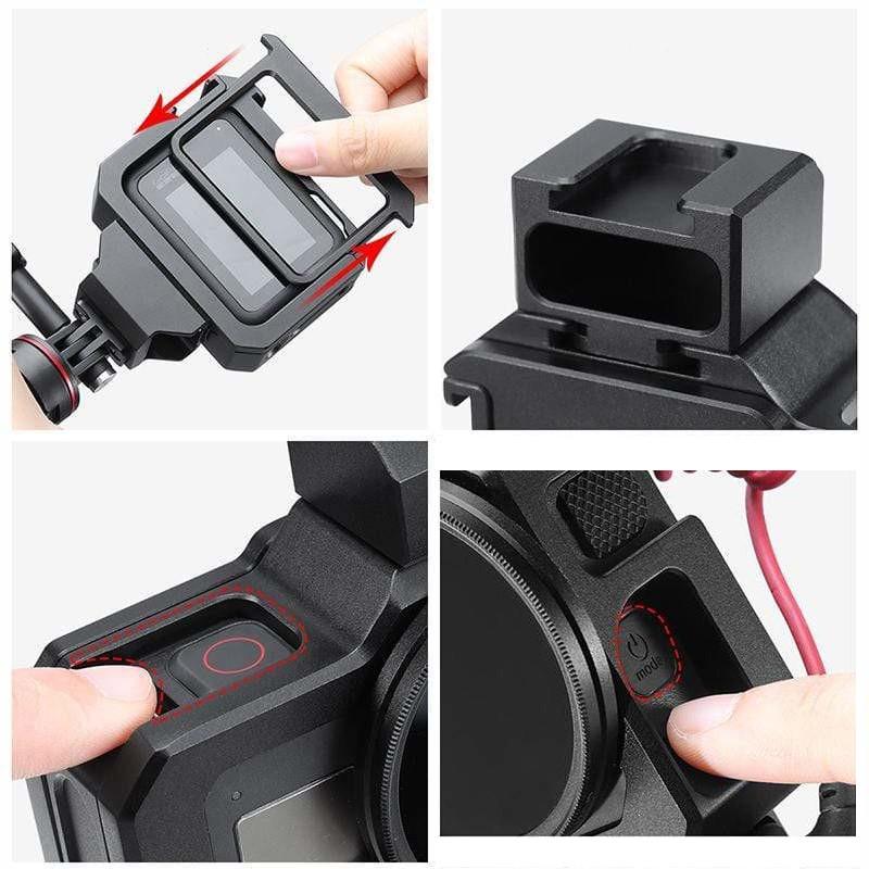 фото доступа к кнопкам камеры GoPro 8 в влог рамке