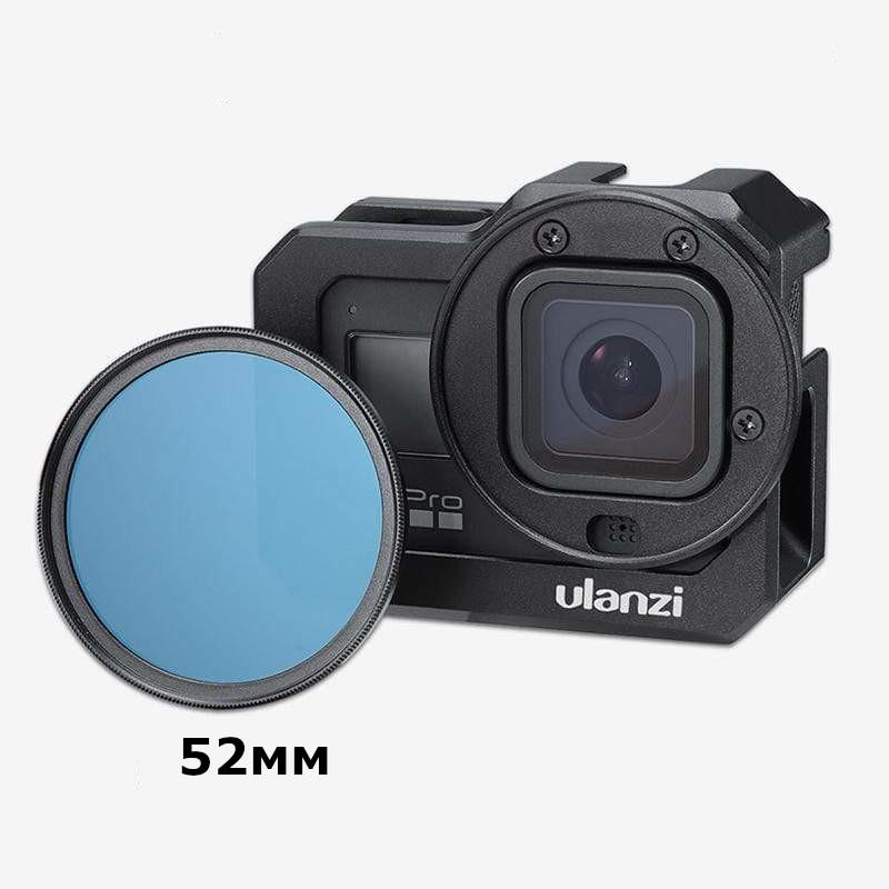 изображение установки фильтра 52мм на влог рамку GoPro 8