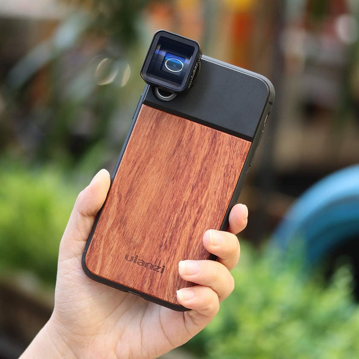 изображение Ulanzi Wood чехла для объектива на камеру iPhone 11
