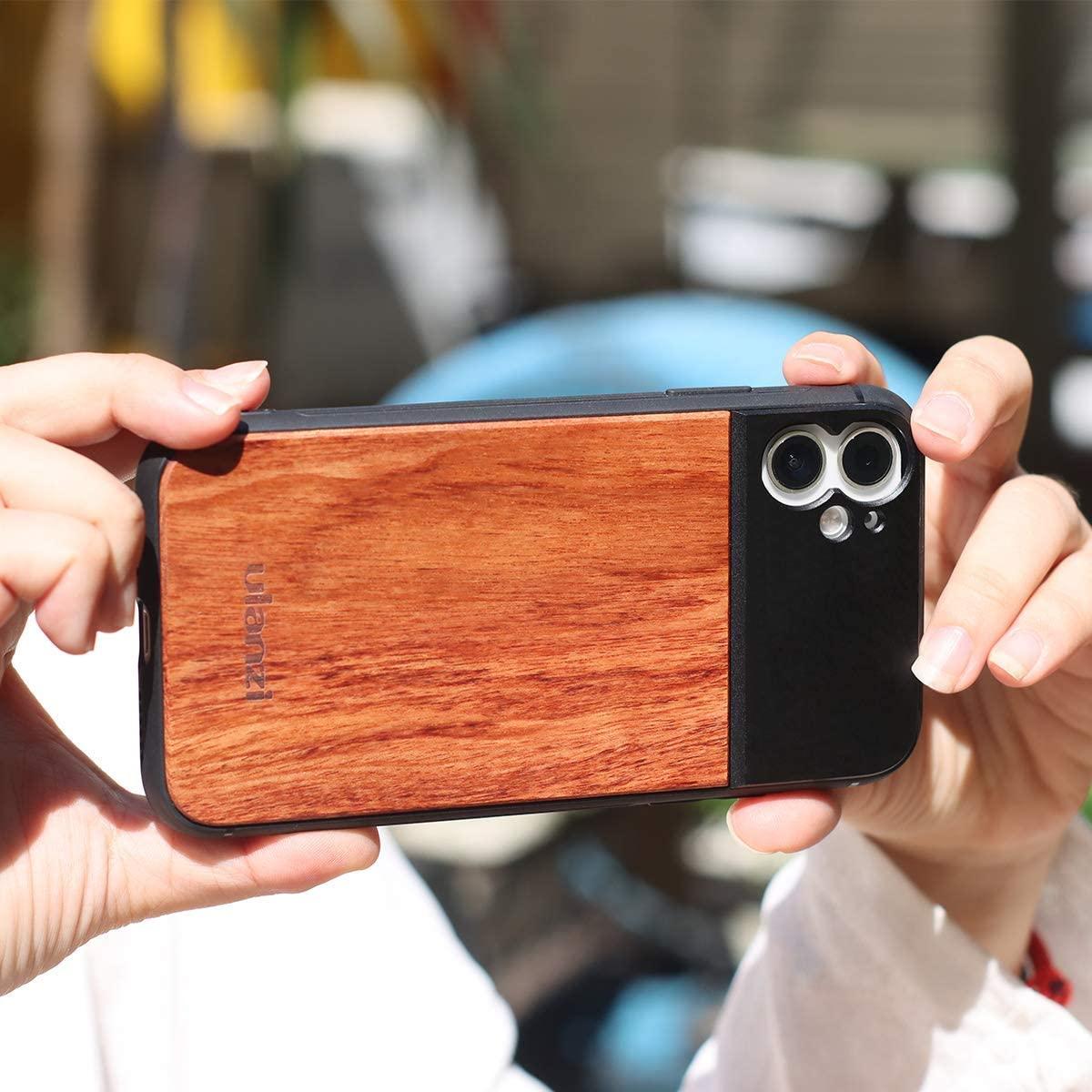 фото Ulanzi Wood чехла-объектива iPhone 11