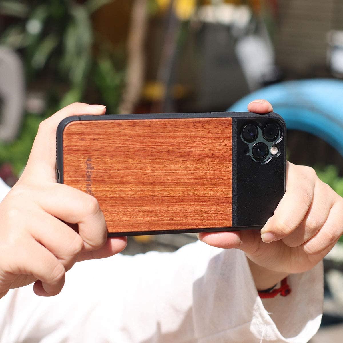 фото Ulanzi Wood чехла-объектива iPhone 11 Pro Max