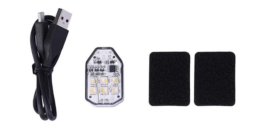 изображение комплектации сигнального фонаря для квадрокоптера