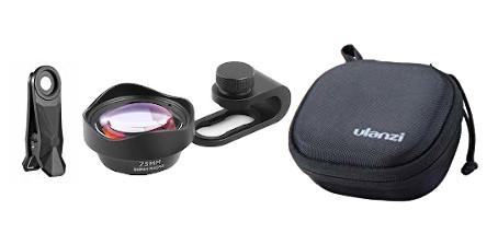 фото комплекта поставки супер макрообъектива Ulanzi 75mm Macro Lens