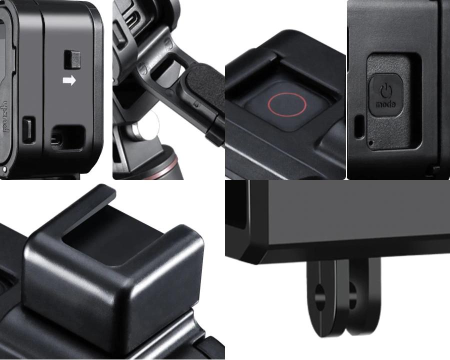 фото зарядки экшн-камеры в рамке во время записи видео