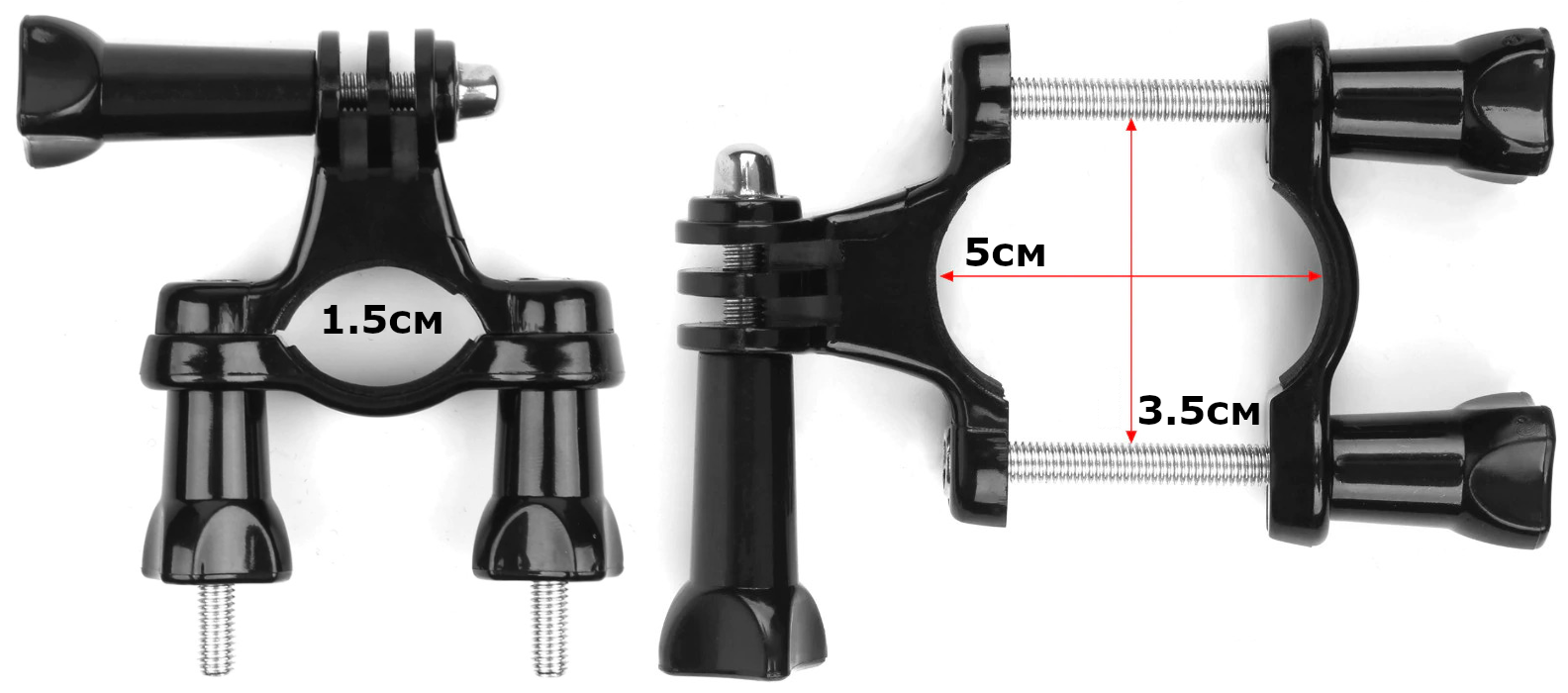 фото диаметра крепления на трубу для экшн-камеры