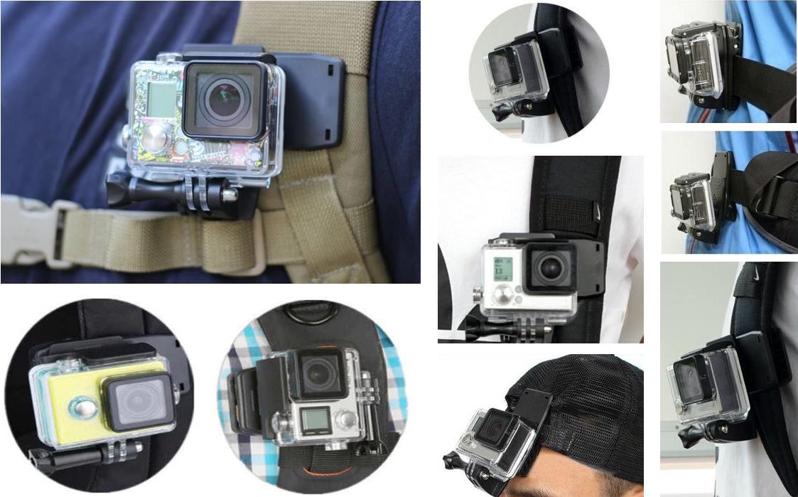 фото применения прищепки для экшн-камеры