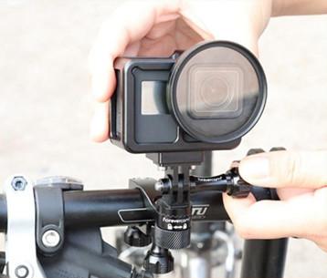 4 изображения установки крепления для экшн-камеры на руль