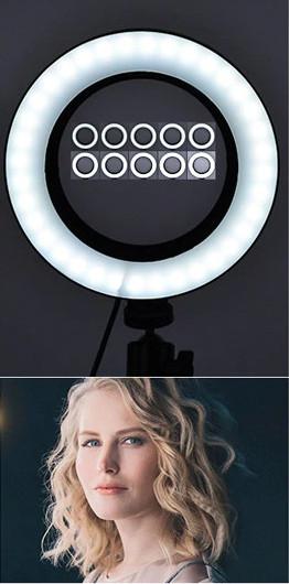 фото холодная температура света на штативе для телефона с лампой