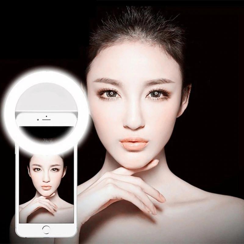 изображение кольцевой лампы из набора блогера 4 в 1 для телефона