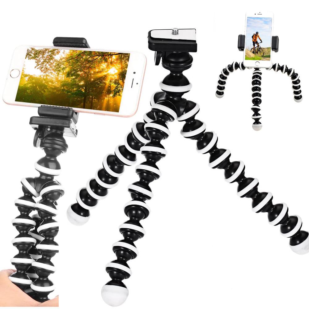фото примеров установки штатива из набора блогера 4 в 1 для телефона