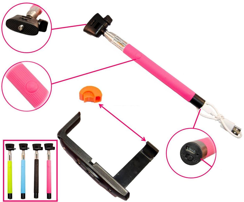 изображение основных компонентов Bluetooth селфи палки для телефона