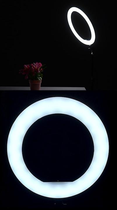 изображение холодного света на световом кольце для телефона