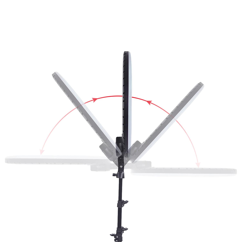 фото регулировки положения кольцевой лампы LED Ring RL-21
