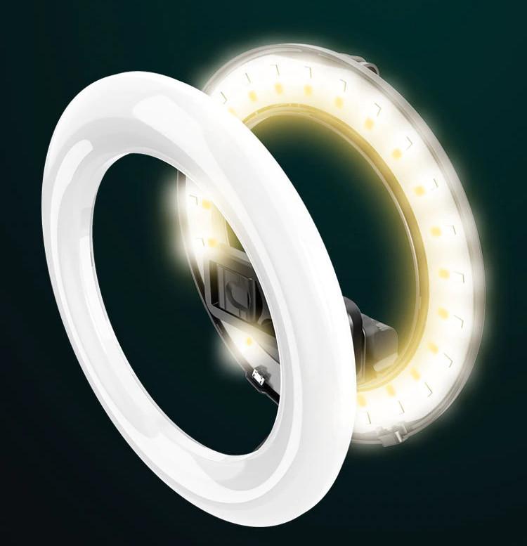 фото монопода кольцевой лампы с регулировкой света