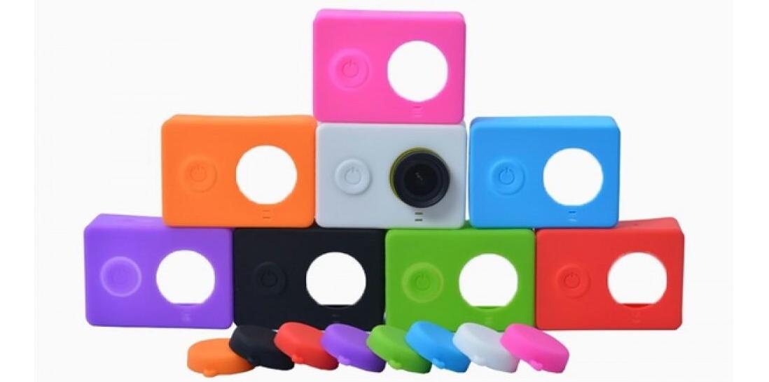 фото комплекта силиконового чехла Xiaomi Yi