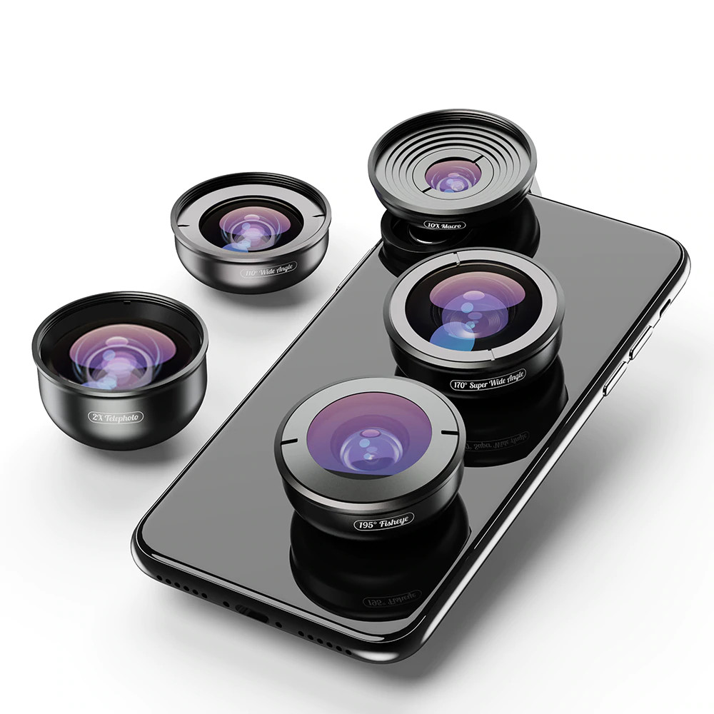 изображение набора объективов для телефона