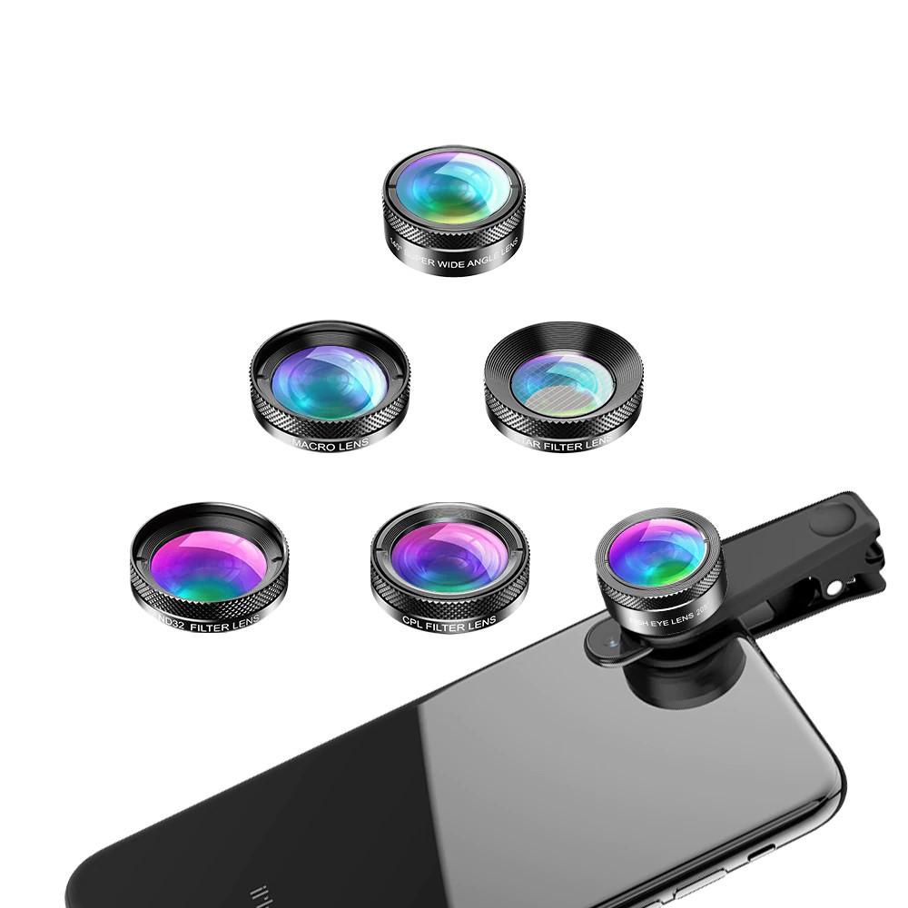 изображение набора фильтров и линз для смартфона