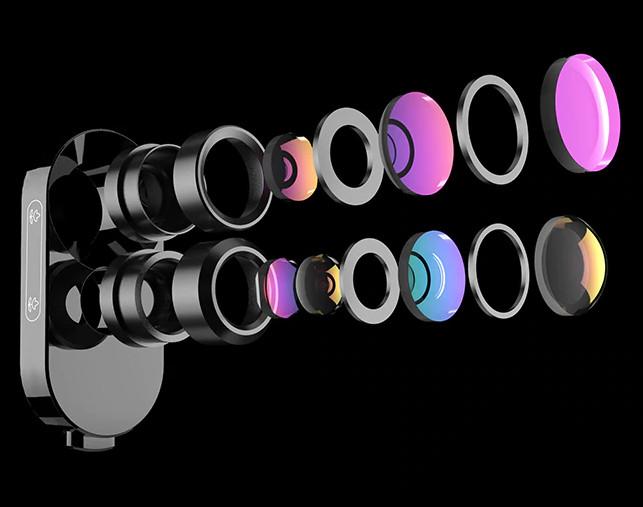 изображение объектива с оптикой с многослойным покрытием