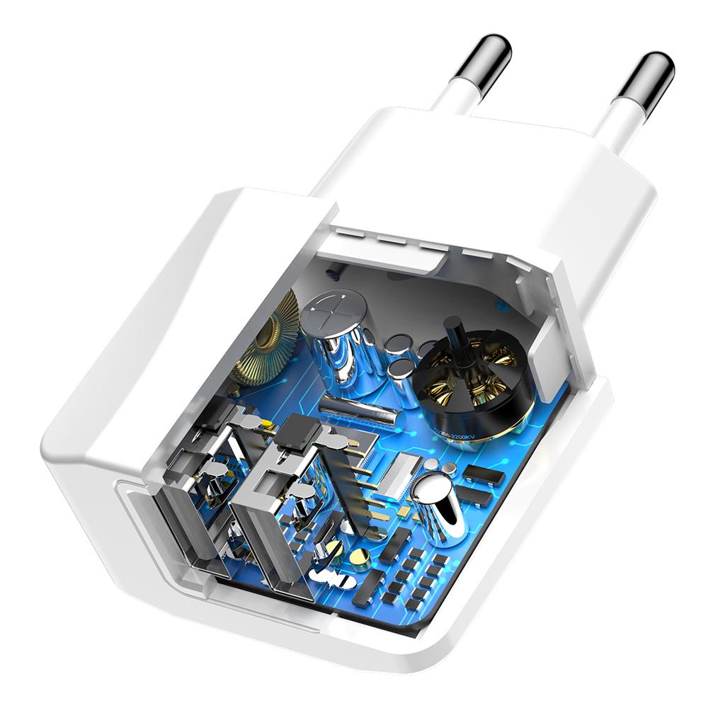 зображення зарядки для телефону з захистом Baseus Mini Dual-U
