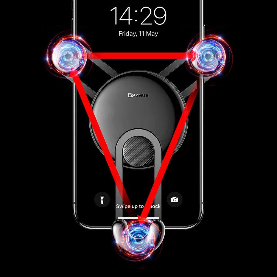 фото трех точек контакта держателя в дефлектор Baseus SUTYY-01