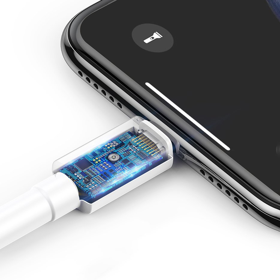 фото чипа на кабеле Type-C iP Baseus CATLSW-02 для безопасной занядки