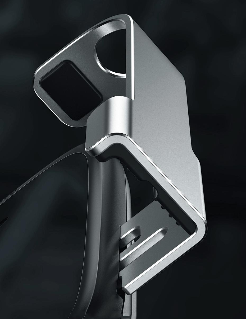 изображение алюминиевых направляющих с силиконовыми вставками на держателе Baseus WXHW01-B0S