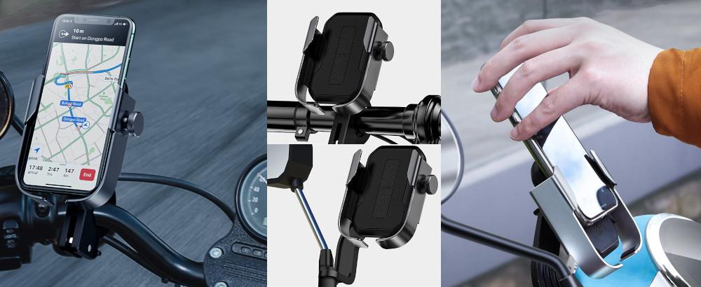 фото держателя для телефона на руль мотоцикла Baseus SUKJA-01
