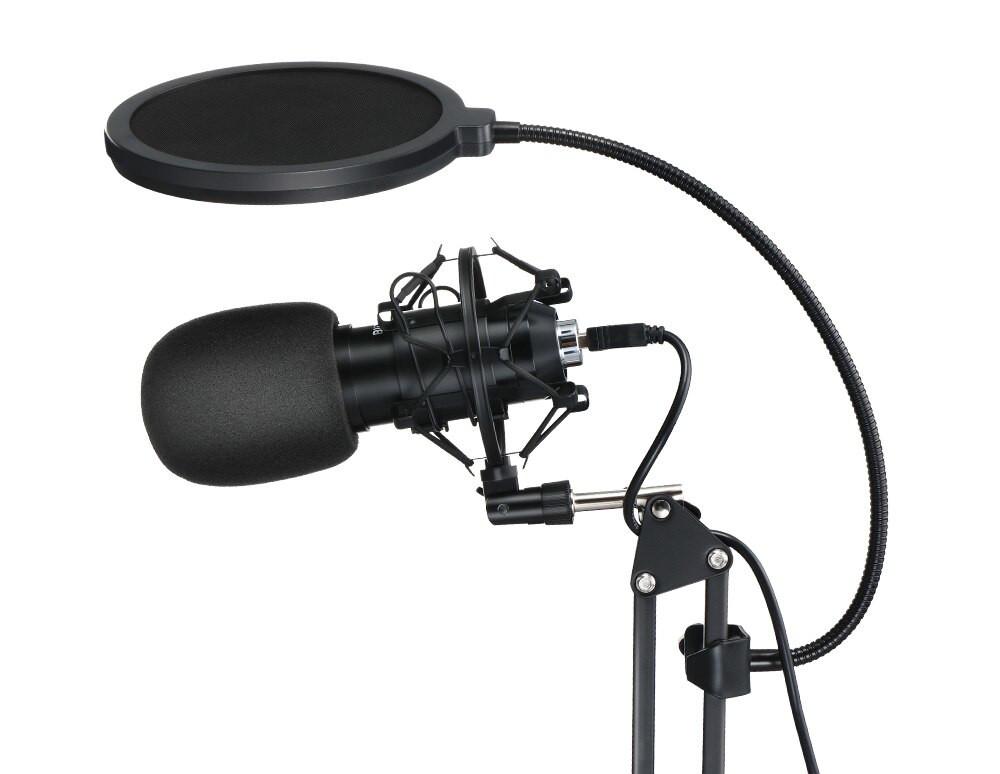 изображение поп-фильтра и поролоновой ветрозащиты микрофона BlitzWolf BW-CM2