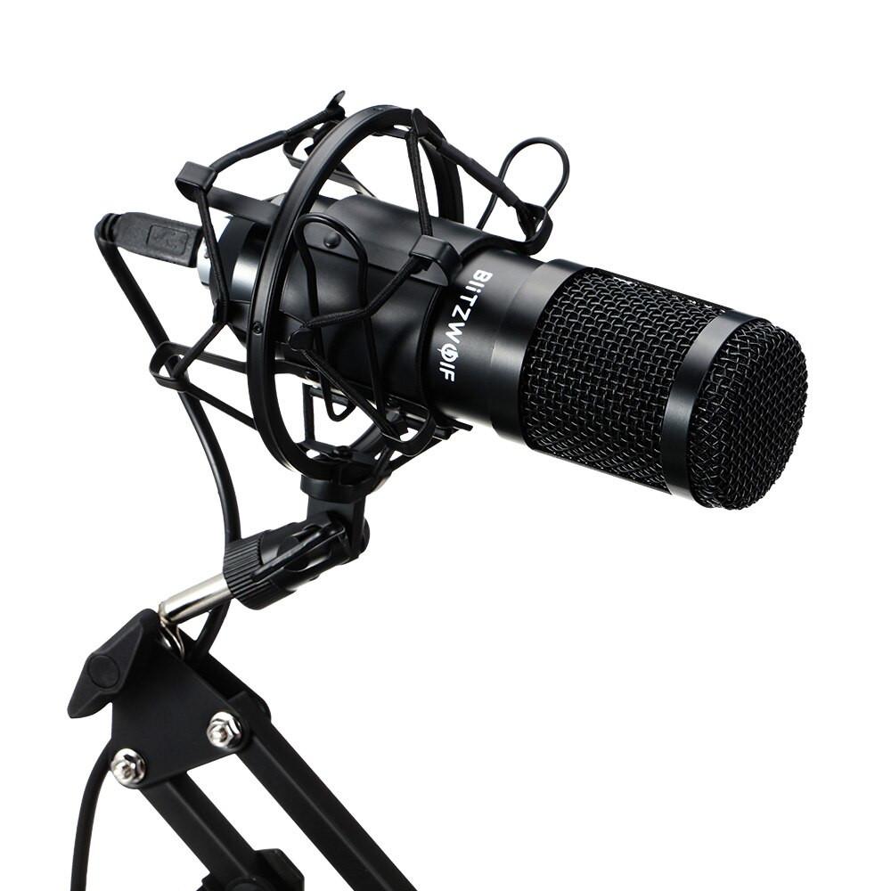 фото виброразвязки паук на микрофоне BlitzWolf BW-CM2