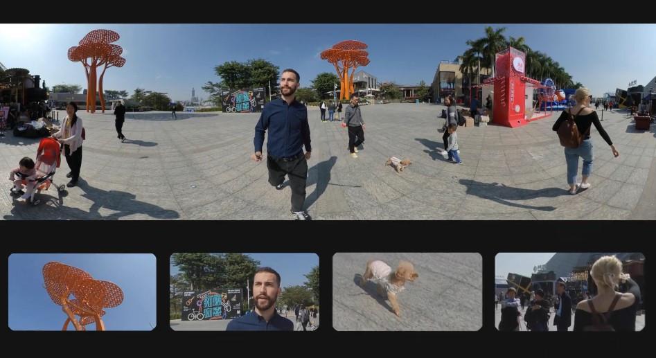 изображение кадрирования на Insta One R Twin Edition