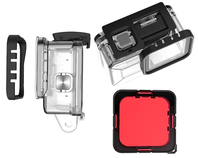 зображення червоного фільтра GoPro 8 Telesin