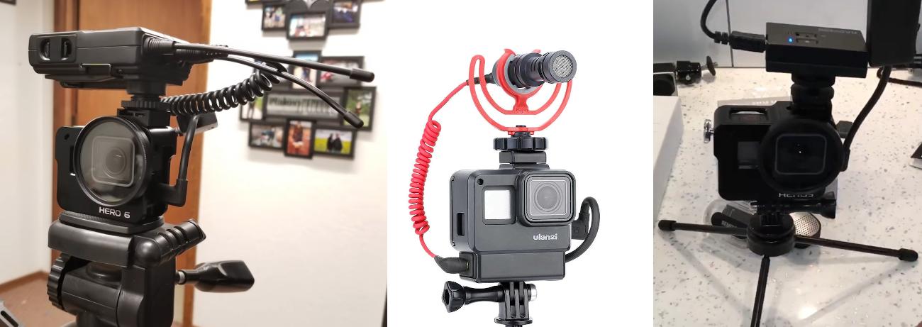 фото бездротове підключення мікрофона до GoPro