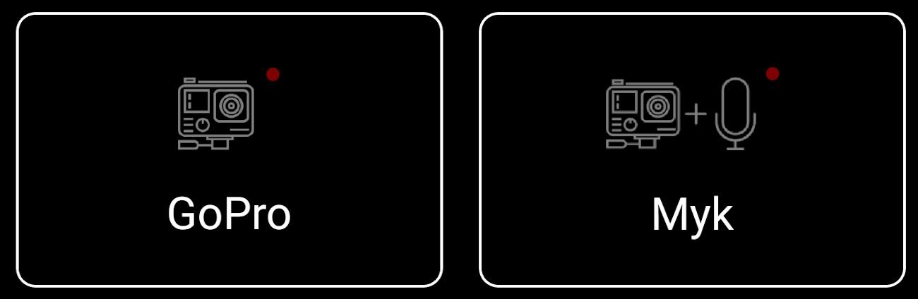 фото опції запису звуку в Myk for GoPro