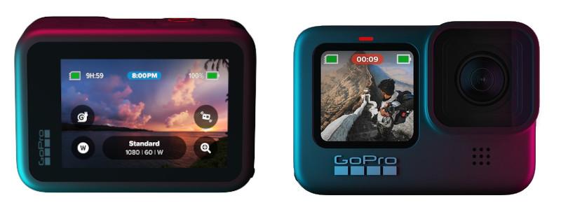 фото двух цветных дисплеев GoPro 9