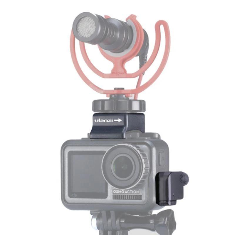 фото Boya BY-MM1 с адаптером микрофона и креплением холодный башмак Ulanzi OA-8