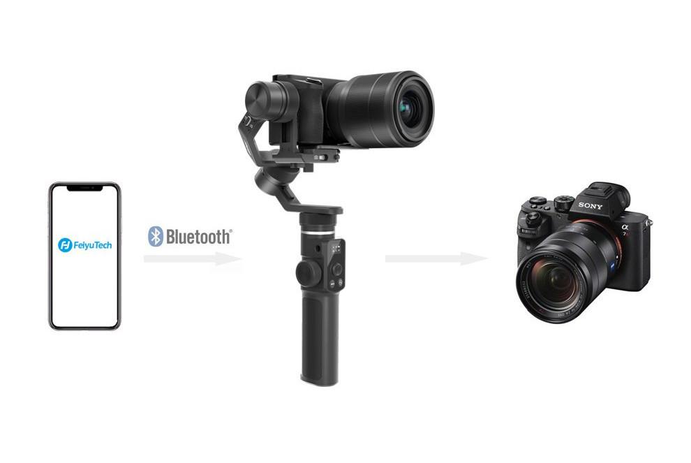 фото поддержки Wi-Fi и Bluetooth на стабилизаторе Feiyu Tech G6 Max