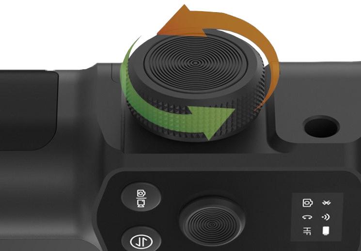 фото многофункционального колеса управления функциями стабилизатора Feiyu Tech G6 Max