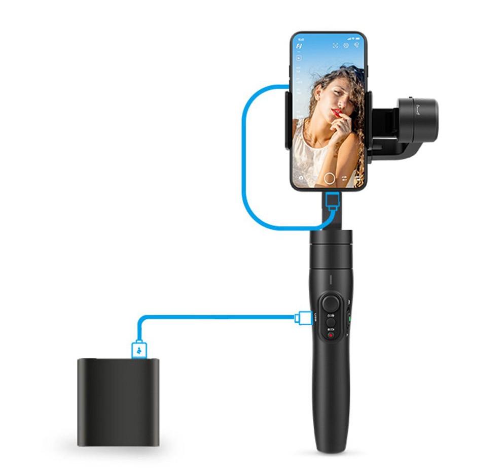 фото возможности зарядки телефона от стабилизатора Feiyu Tech Vimble 2S