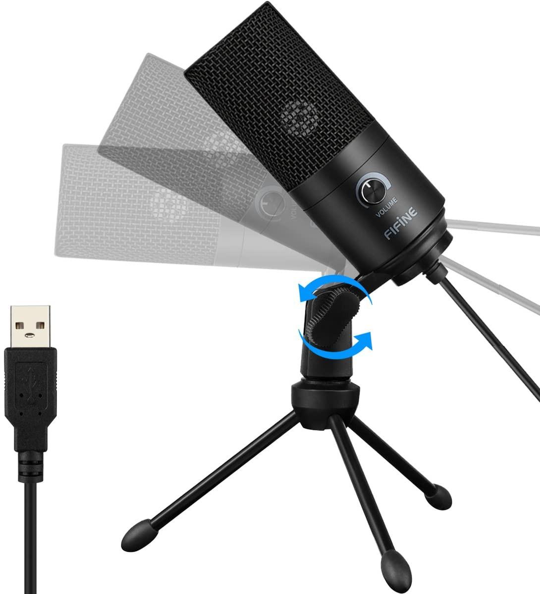 фото мини штатива на стол для микрофона Fifine K669B