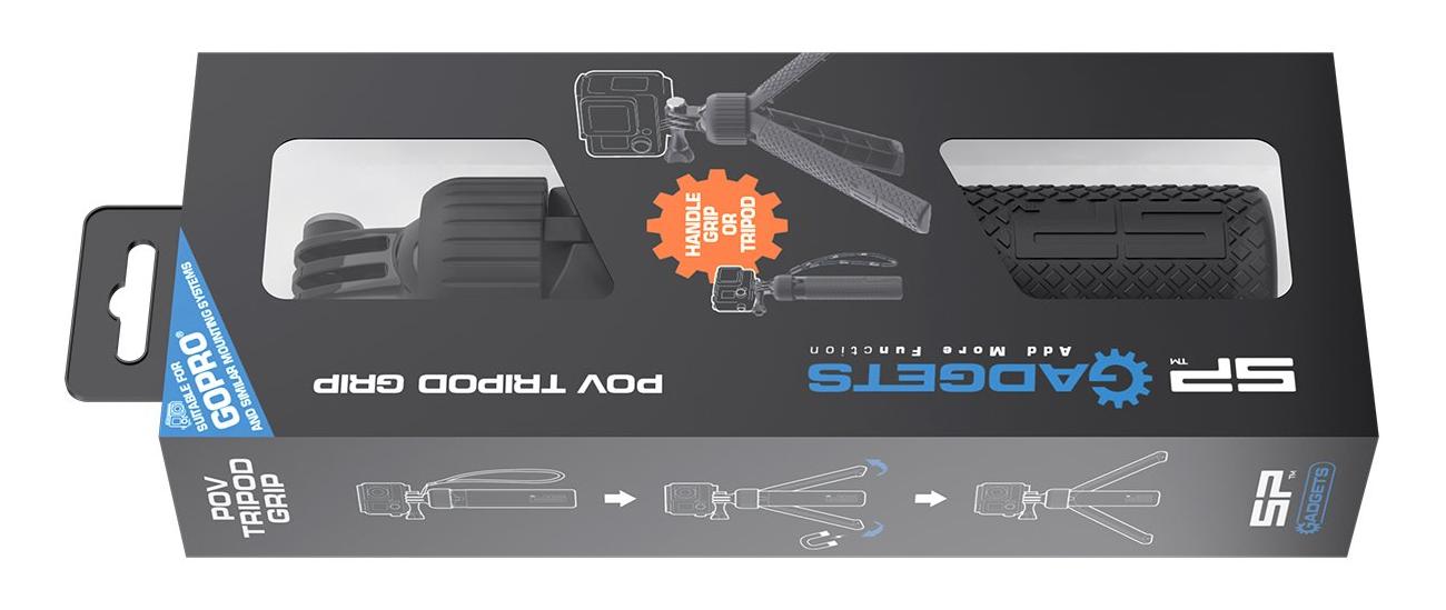 комплектация ручки штатива SP POV Tripod Grip для экшн-камер