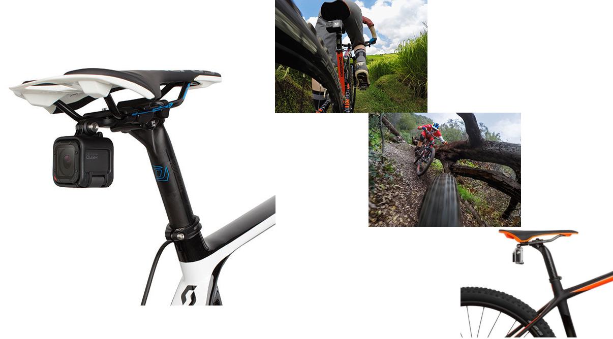 Изображение крепления экшн-камеры GoPro на седло велосипеда