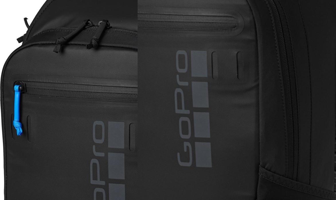 фото прорезиненной молнии кармана рюкзака GoPro Seeker