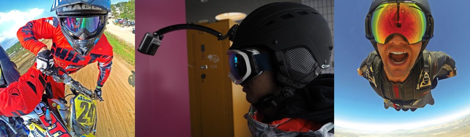 картинка как применять удлинитель на шлем для экшн-камеры
