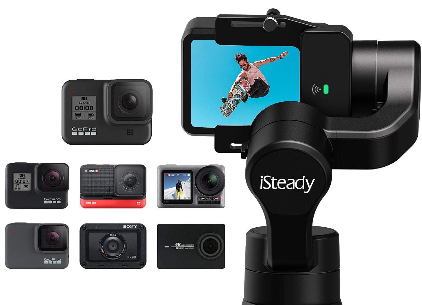 фото совместимых экшн-камер со стабилизатором Hohem iSteady Pro 3