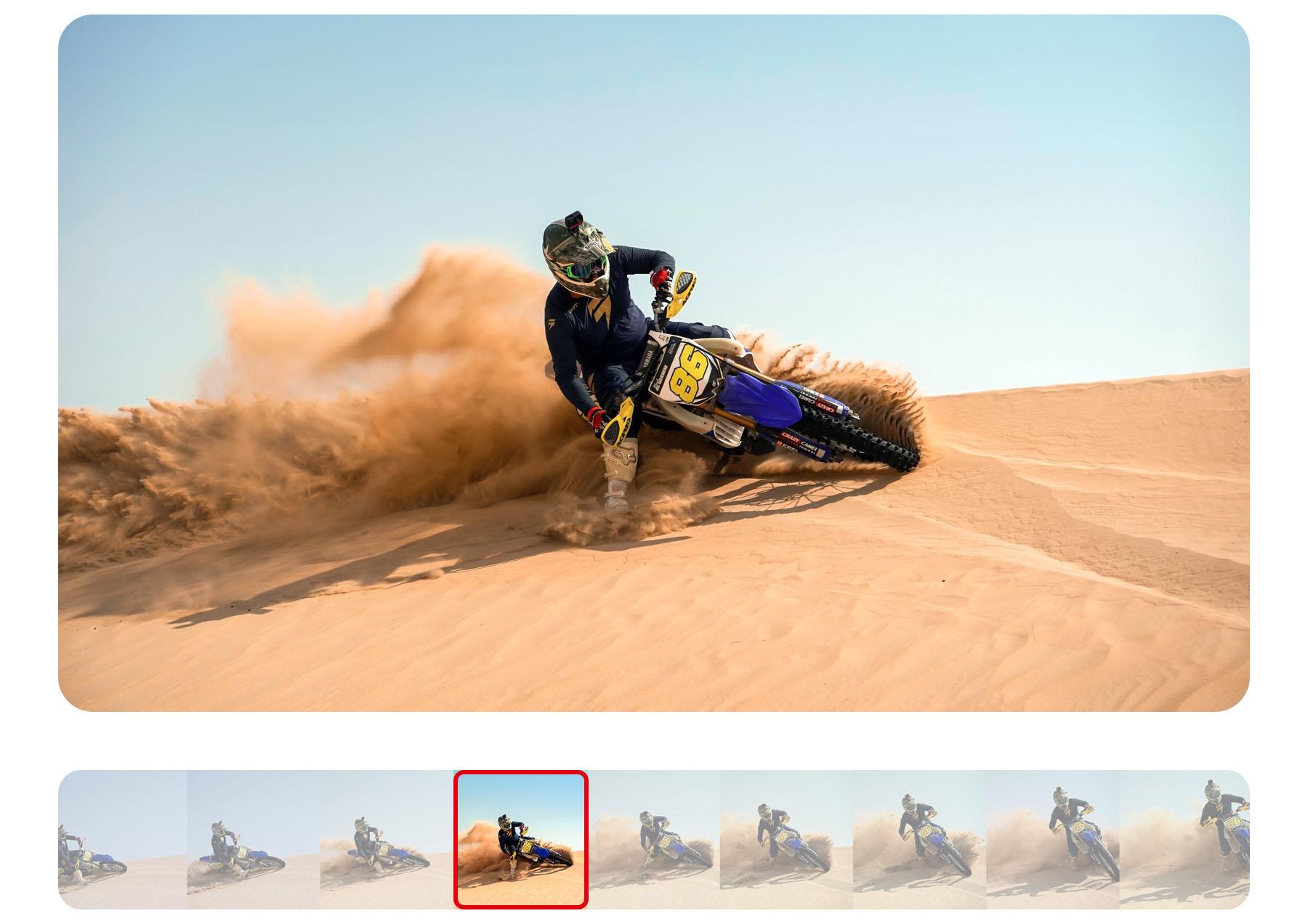 изображения замедленной съемки при помощи камеры Insta360 ONE R