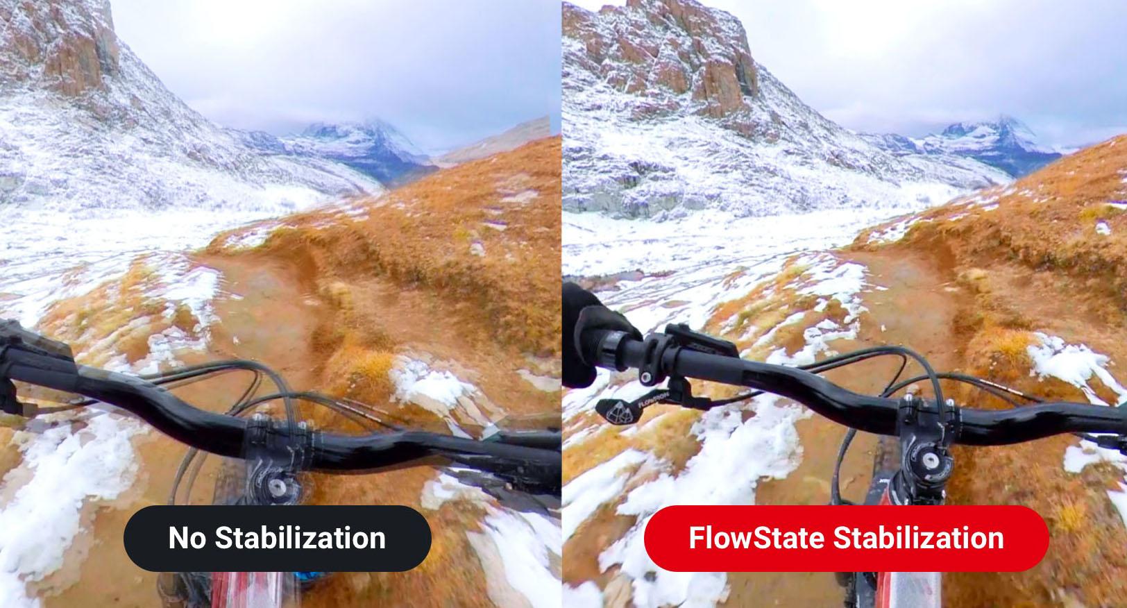 изображения стабилизации FlowState на камере Insta360 ONE R