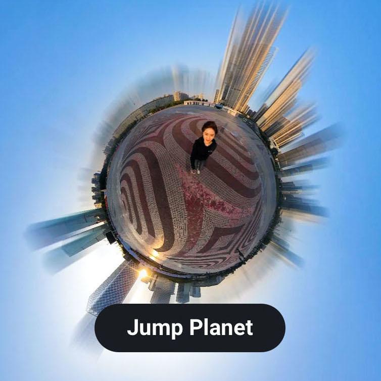 изображение эффекта jump-planet