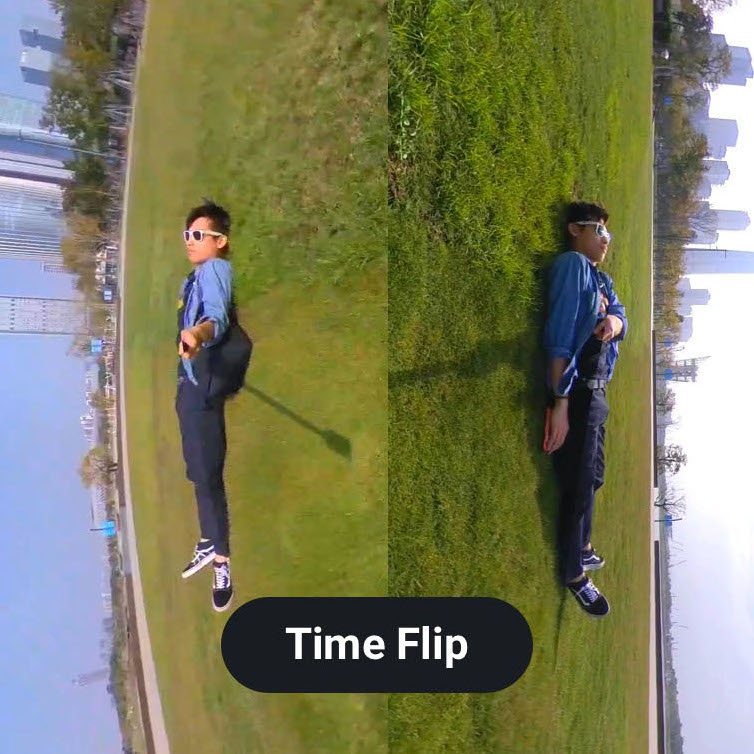 фото эффекта time-flip